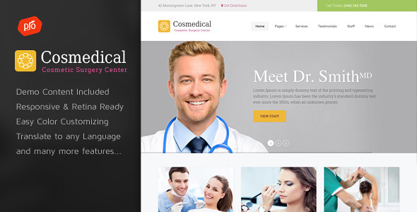 Cosmedical - Health & Medical WordPress Theme - Health & Beauty Retail