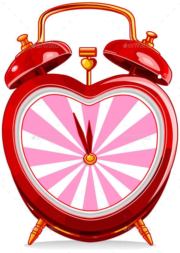 Vintage Alarm Clock - Valentines Seasons/Holidays