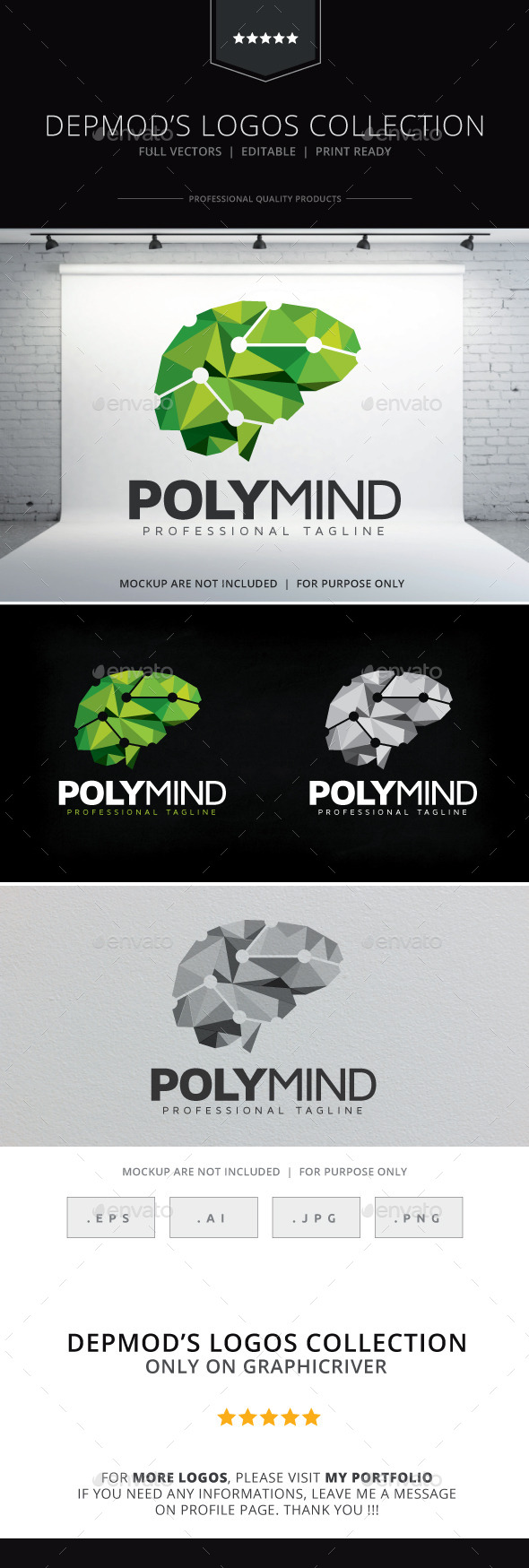 Poly Mind Logo - Objects Logo Templates