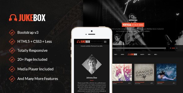 Jukebox – Responsive Music and Band Template