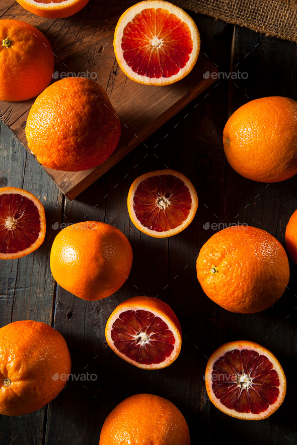 Organic Raw Red Blood Oranges - Stock Photo - Images