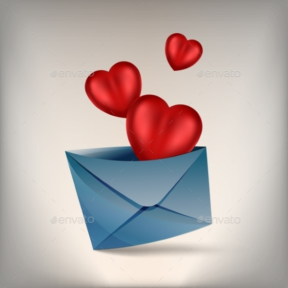 Hearts and Envelope - Valentines Seasons/Holidays