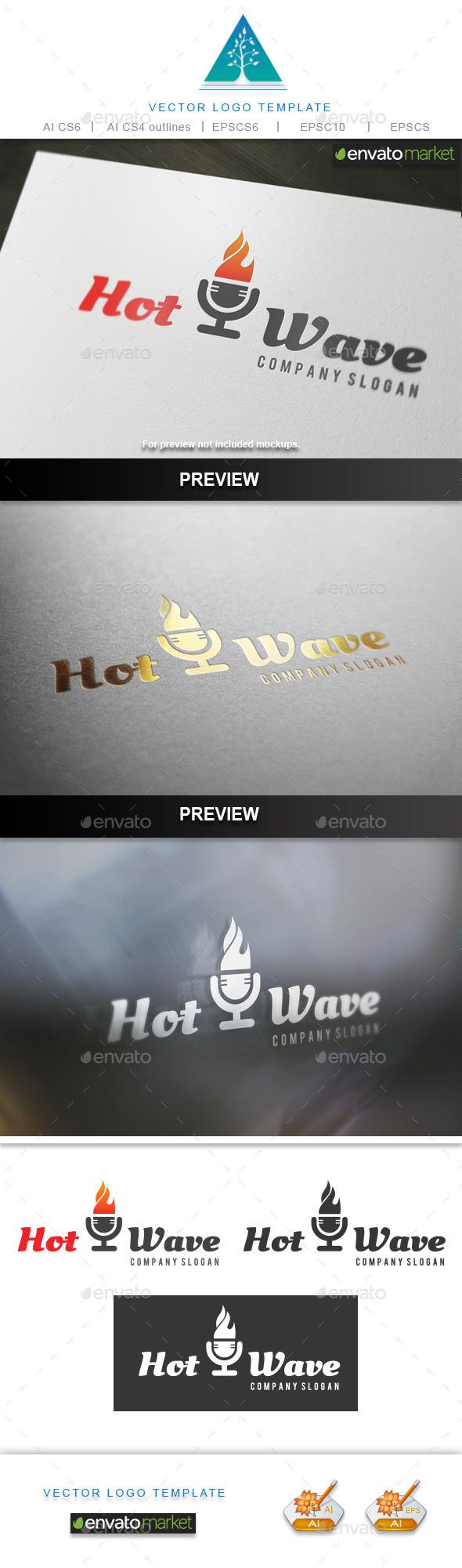 Hot Wave Logo - Symbols Logo Templates