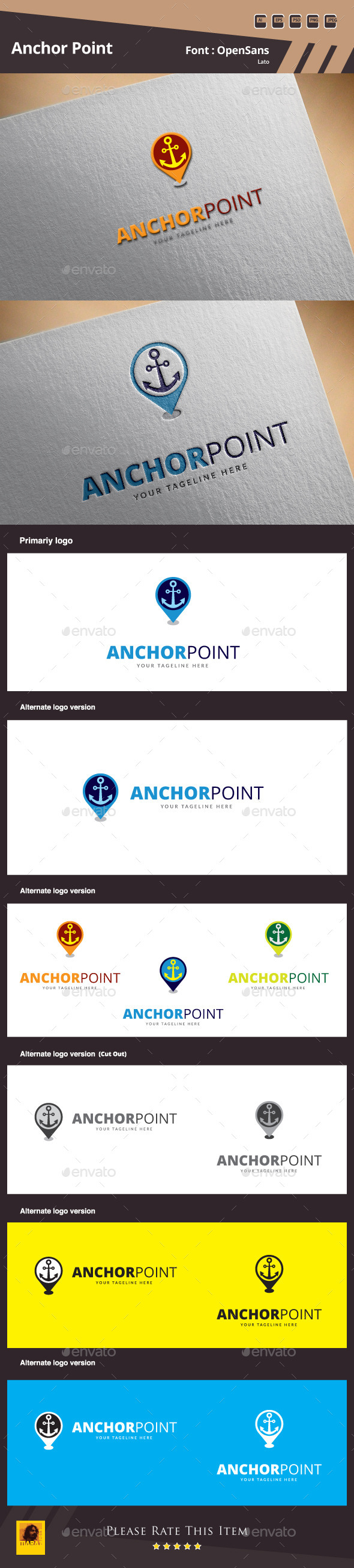 Anchor Point Logo Template - Symbols Logo Templates
