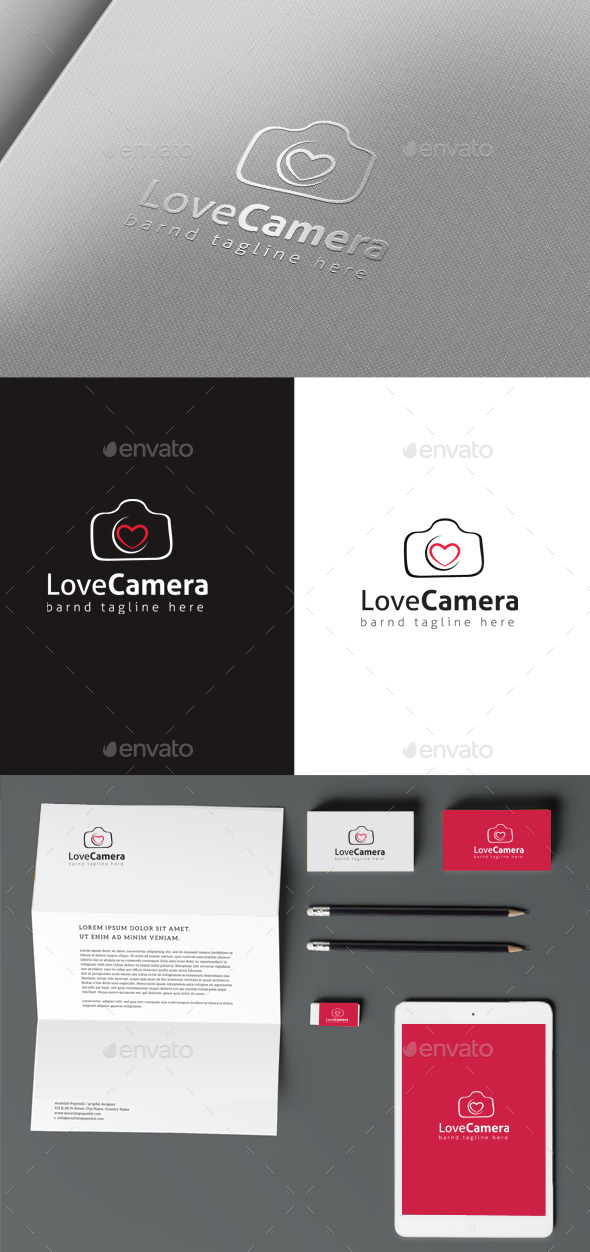 Love Camera - Symbols Logo Templates
