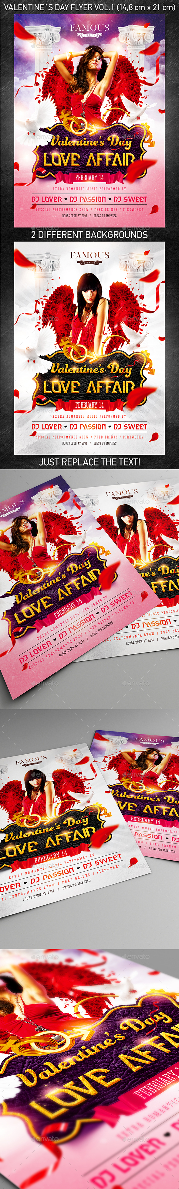 Valentine`s Day Party Flyer vol.1 - Holidays Events