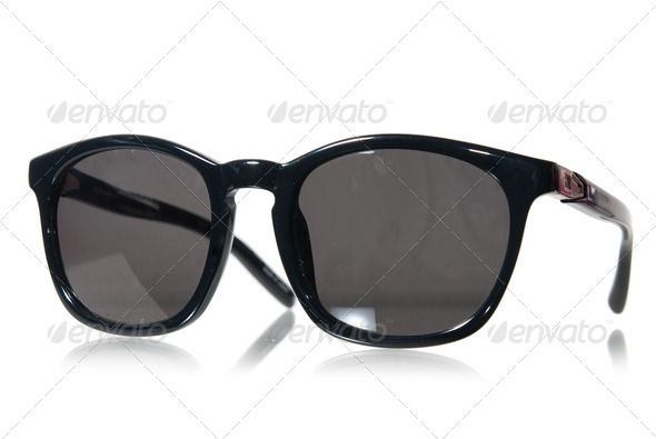 Black sunglasses isolated on white - Stock Photo - Images
