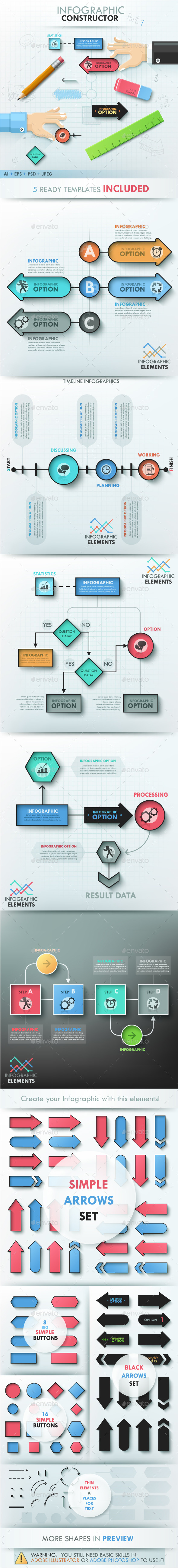 Infographic Constructor. Set 1 - Infographics