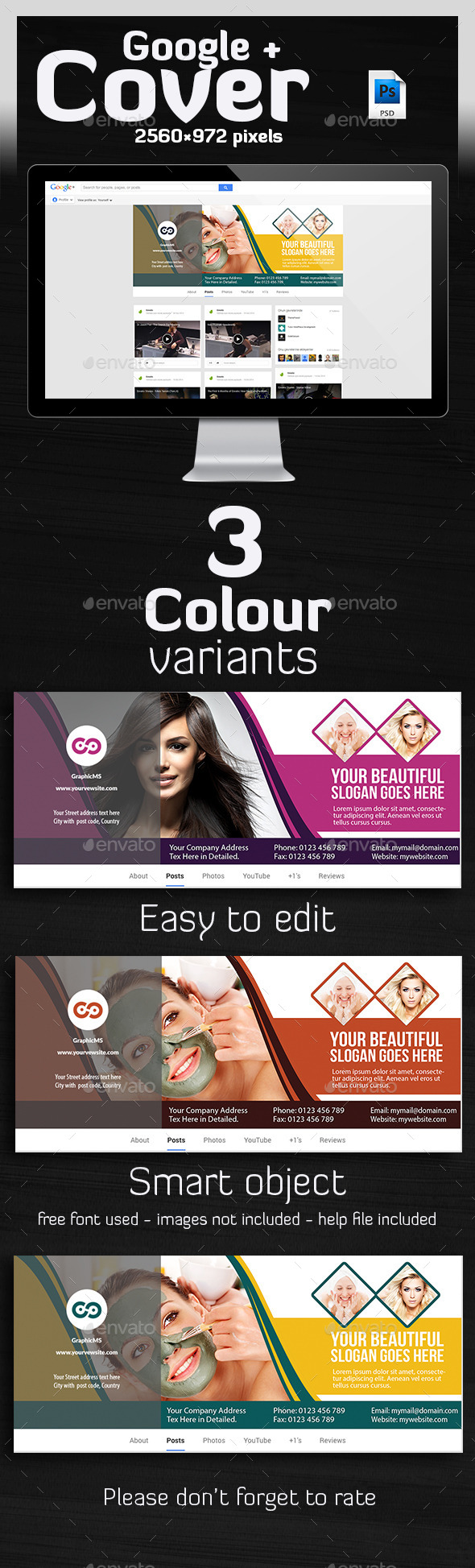 Hair & Beauty Salon Hair Google Plus Cover  - Miscellaneous Social Media