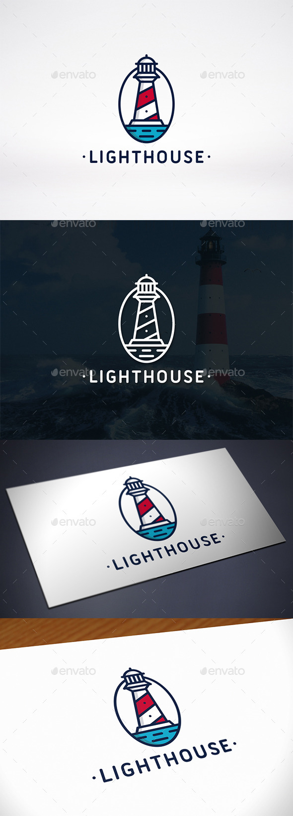Lighthouse Identity Logo Template - Buildings Logo Templates