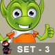 Pointy Eared Alien – Set 3 - GraphicRiver Item for Sale