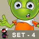 Pointy Eared Alien – Set 4  - GraphicRiver Item for Sale