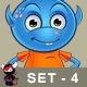 Light Blue Alien – Set 4 - GraphicRiver Item for Sale