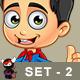 Super Boy Character - Set 2 - GraphicRiver Item for Sale