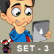 Super Boy Character - Set 3 - GraphicRiver Item for Sale