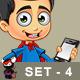 Super Boy Character - Set 4 - GraphicRiver Item for Sale