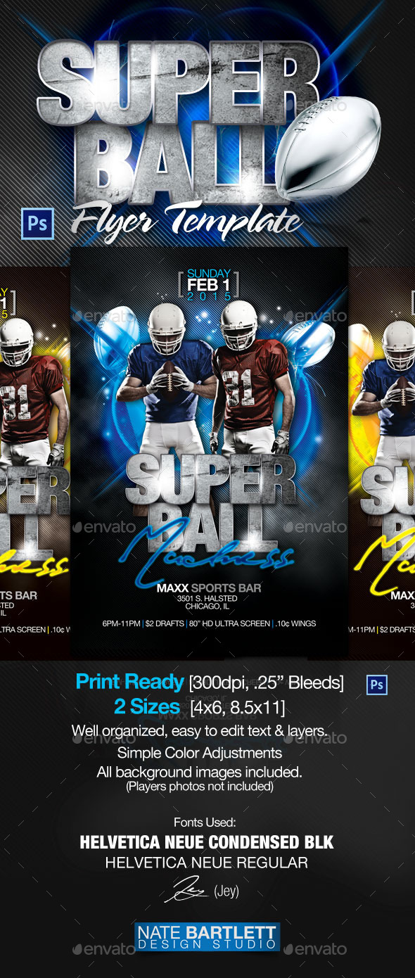 Super Ball Flyer Template - Sports Events