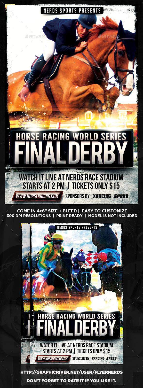 Horse Racing Championships Sports Flyer - Sports Events