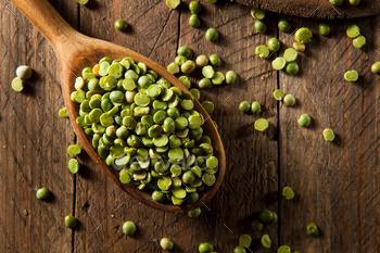 Raw Organic Green Split Peas