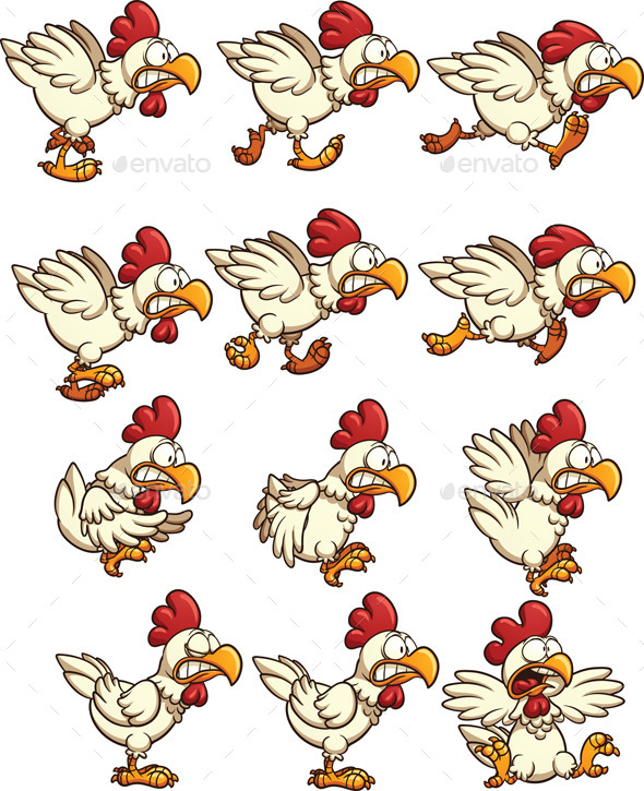 Chicken Sprites - Sprites Game Assets
