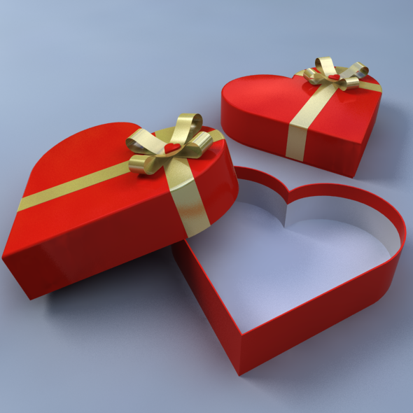 Heart Shaped Gift Box By Umurdesign 3docean