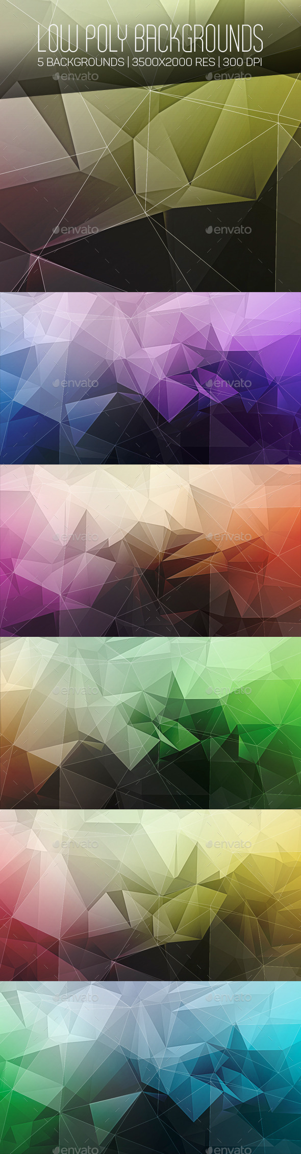 Low Poly Backgrounds - Abstract Backgrounds