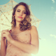Beautiful Woman Posing Outside Sun Umbrella 8 - VideoHive Item for Sale