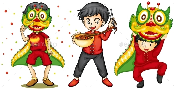 Chinese New Year - People Characters