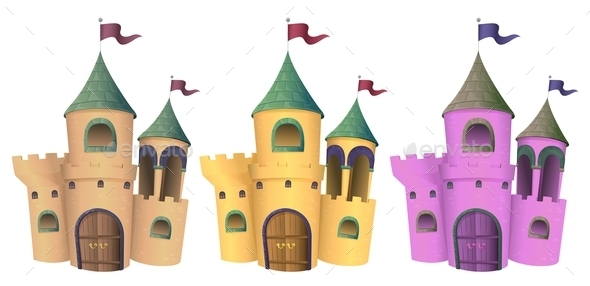 Three Castles - Buildings Objects