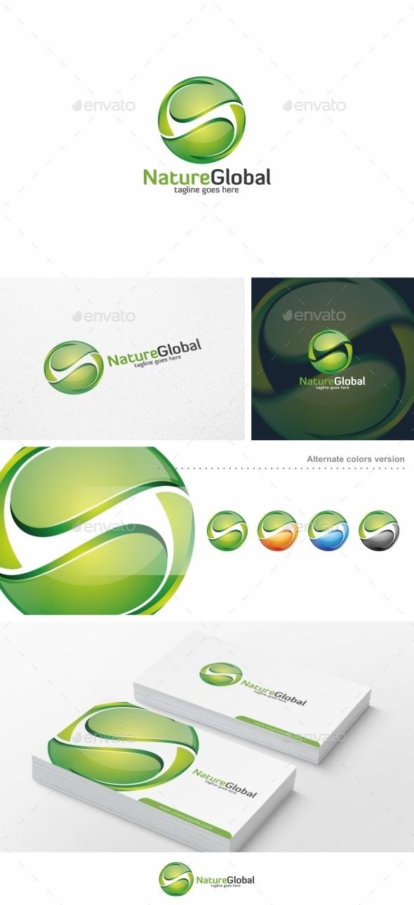 Nature Global / Leaf - Logo Template - Nature Logo Templates
