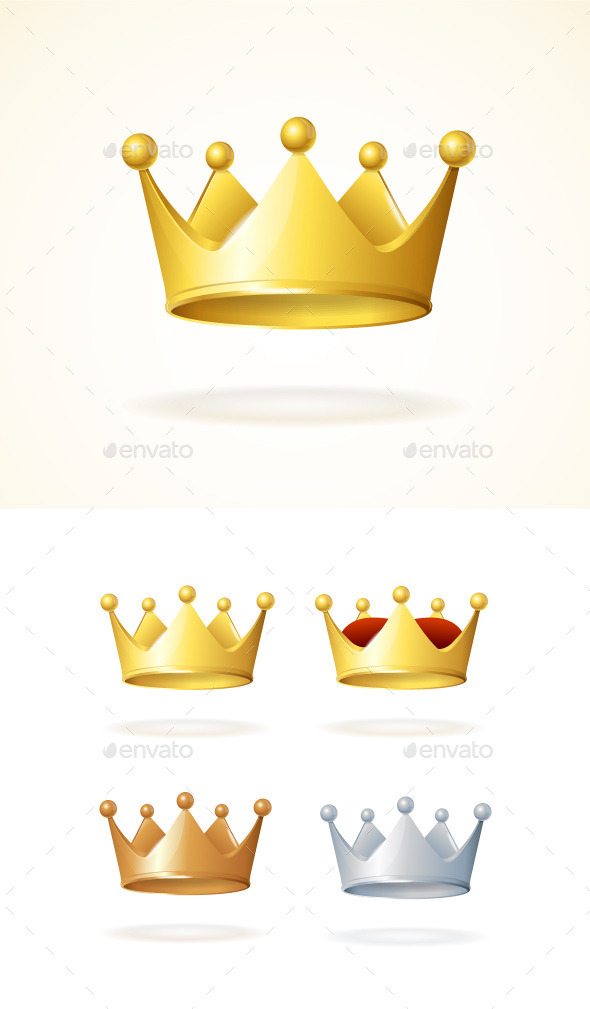Set of Royal Crowns - Man-made Objects Objects