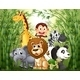 Bamboo Forest with Many Animals