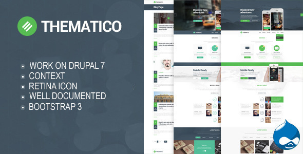 Thematico – One Page Drupal Theme