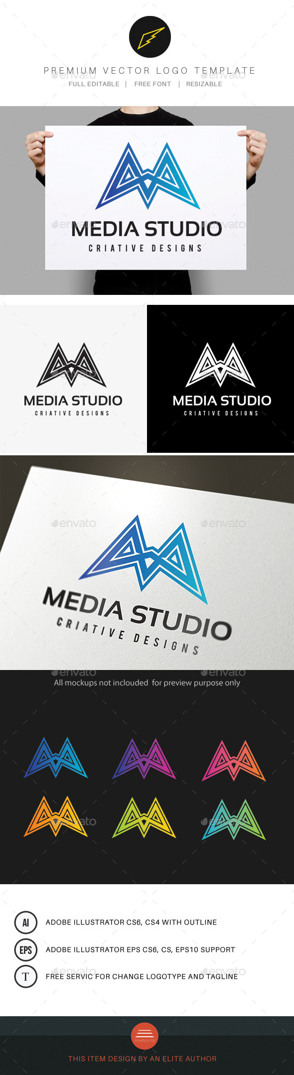 Media - Letters Logo Templates