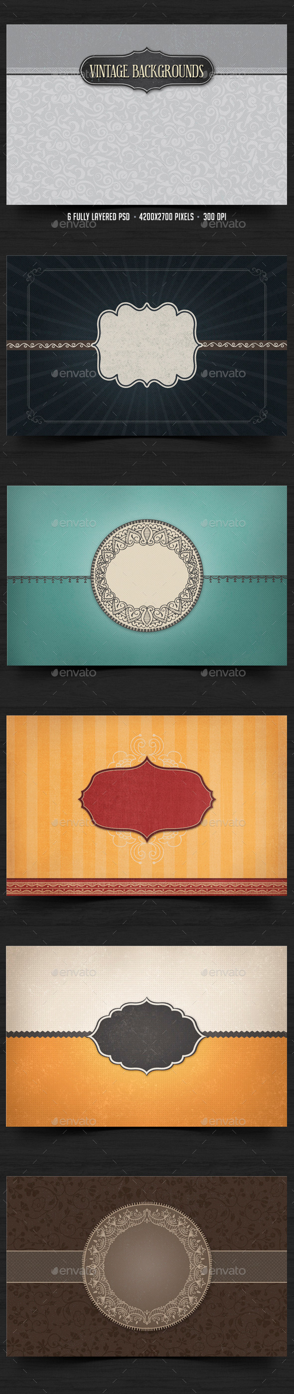 Vintage Backgrounds 4 - Backgrounds Graphics