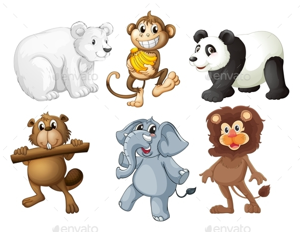 Animals in the Woods - Animals Characters