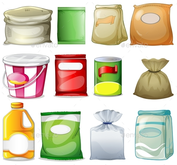 Different Packs and Containers - Food Objects