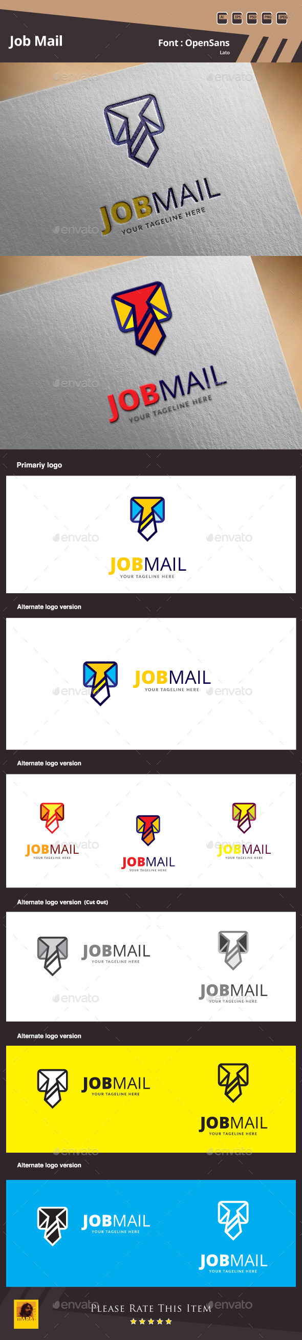 Job Mail Logo Template - Objects Logo Templates