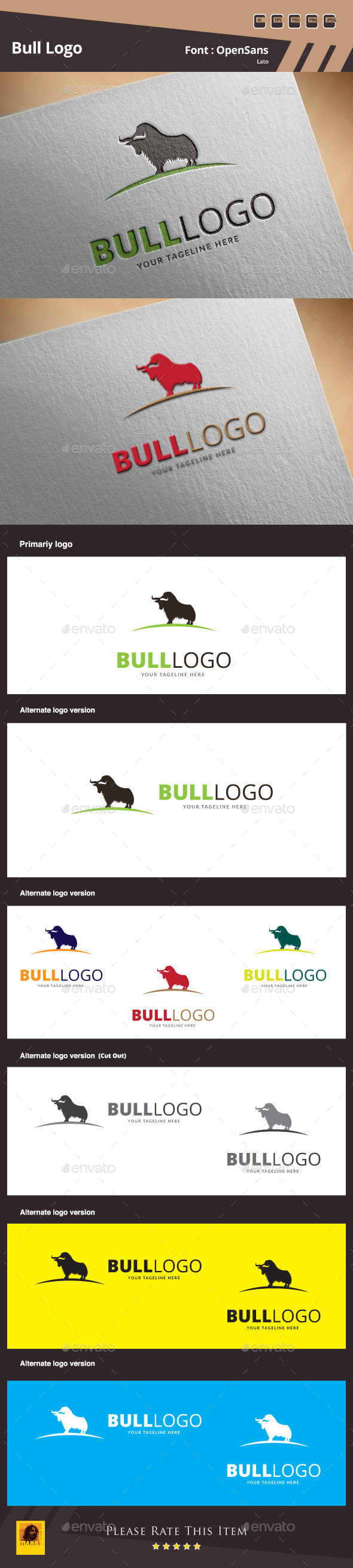 Bull Logo Template - Animals Logo Templates