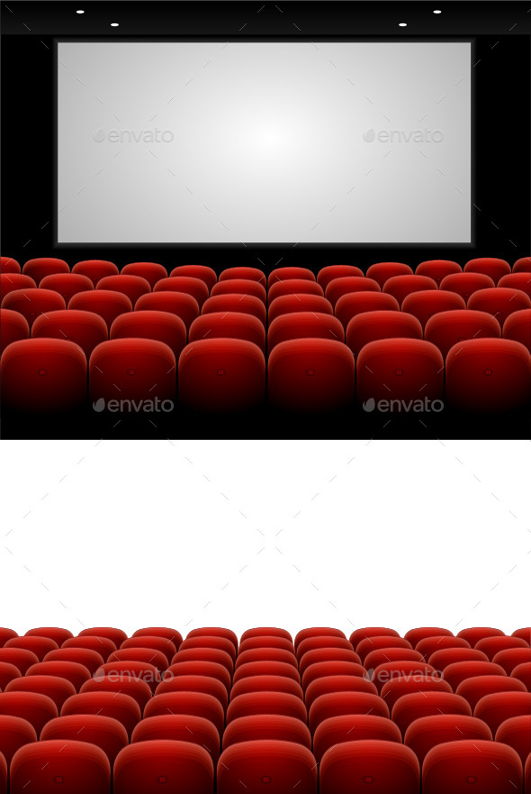 Red Cinema Theatre Seats - Buildings Objects