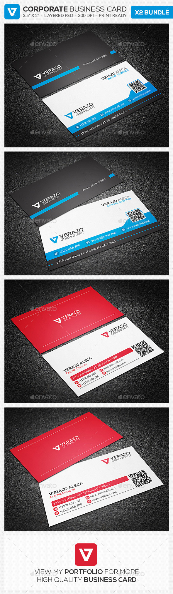 Business Card Bundle 14 - Corporate Business Cards