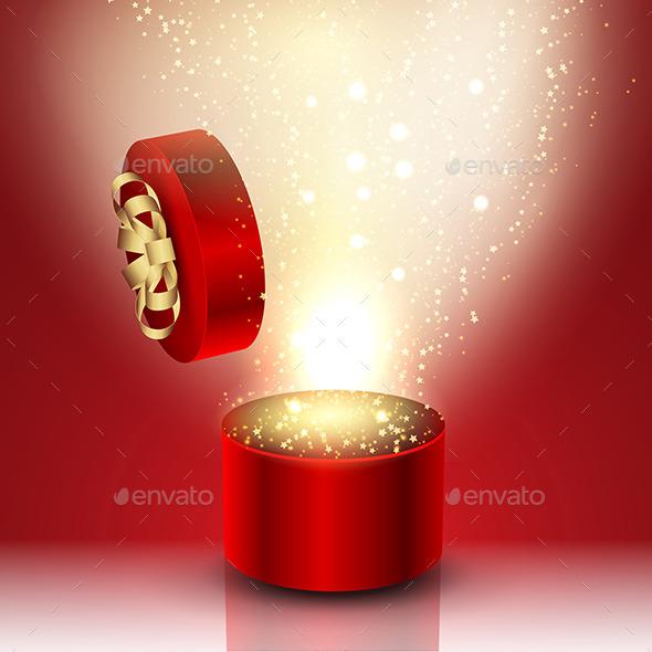 Gift Box Background - Valentines Seasons/Holidays