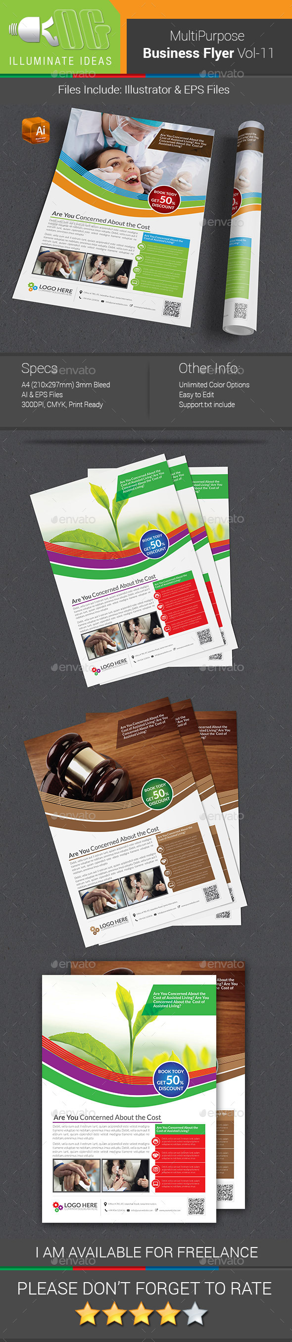 Multipurpose Business Flyer Template Vol-11 - Corporate Flyers