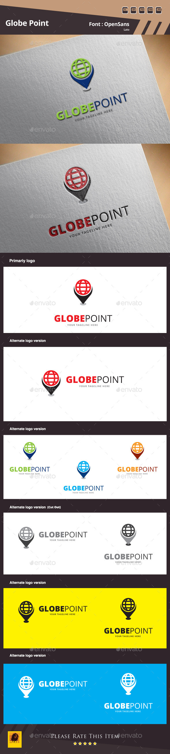 Globe Point Logo Template - Symbols Logo Templates
