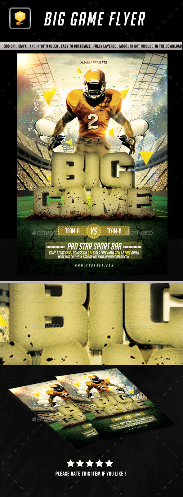 Big Game Flyer - Sports Events