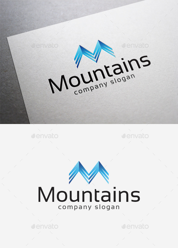 Mountains Logo - Letters Logo Templates
