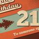 Retro Happy Birthday Card V1 - GraphicRiver Item for Sale