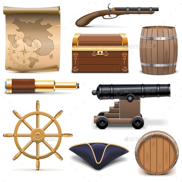 Vector Pirate Icons - Miscellaneous Vectors