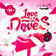 Love & Doves Party Flyer - GraphicRiver Item for Sale