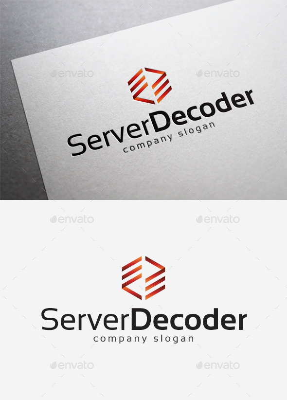 Server Decoder Logo - Abstract Logo Templates